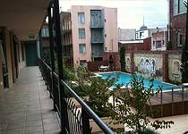 Hotel balcony swimming pool