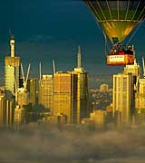 Hot Air Ballooning over Melbourne City